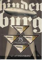 2012 Ghana Hindenberg Zeppelin Miniature Sheet  MNH Of 4  ** UR Corner Crumpled - Stamps Unaffected ** - Ghana (1957-...)