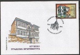 REPUBLIC OF MACEDONIA, 2002, FDC, MICHEL 260/261 - ARHITECTURE ** - Macedonië