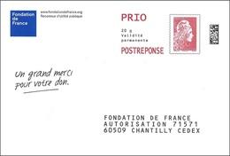 France 2018 - PAP Marianne L'Engagée - Fondation De France ( Mi 7075ya - YT 5253 ) - Postal Stamped Stationery