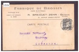 GENEVE - FABRIQUE DE BROSSES BREGUET ZEHR - TB - GE Geneva
