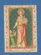 IMAGE PIEUSE HOLY CARD SANTINO IMMAGINETTE SACRE SAINT AUGUSTIN BRUGES BRUGGES  SAINTE ADELAIDE ADELHEID De Bourgogne - Images Religieuses
