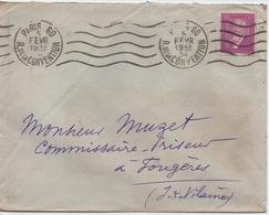 LETTRE AFFRANCHIE  SEUL SUR LETTRE DU N° 292  CACHET  1934 - Postmark Collection (Covers)
