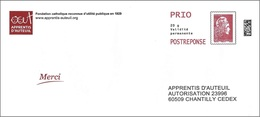 France 2018 - PAP Marianne L'Engagée - Apprentis D'Auteuil ( Mi 7075ya - YT 5254 ) - Postal Stamped Stationery