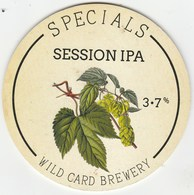 WILD CARD BREWERY  (LONDON, ENGLAND) - SPECIALS SESSION ALE - PUMP CLIP FRONT - Uithangborden
