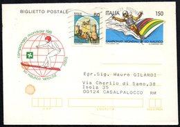 WATER SKIING - ITALIA 1982 - CAMPIONATO MONDIALE 1981 SCI NAUTICO VELOCITA' - BIGLIETTO POSTALE VIAGGIATO - Sci Nautico