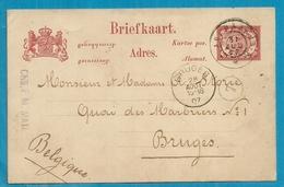 Briefkaart  Van NEDERLAND-INDIE Met Als Aankomst Stempel BRUGES - Marcofilia