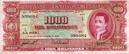 BOLIVIA 1000 BOLIVIANOS 1945  P-149  XF - Bolivia