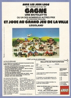 COUPURE De PRESSE PUB - PUBLICITÉ LÉGO - GRAND JEU CONCOURS De La VILLE LEGOLAND - Other Collections