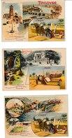AMOUROUX Frères  18 Cartes Gauloise, Hirondelle, Alouette..Toulouse, St Sauveur, Carcassonne, Pic Du Midi, Luchon, Pau.. - Publicidad