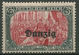 Danzig 1920 Freimarke Mit Aufdruck 15 B Mit Falz - Danzig