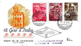 SAN MARINO - 1965 48° Giro D'Italia La Gazzetta Dello Sport Su Busta Fdc Rodia Viaggiata Raccomandata - Wielrennen
