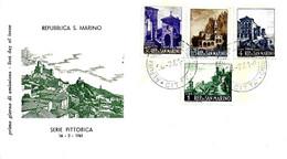 SAN MARINO - 1961 Serie Pittorica 4v. Su Busta Fdc FILAGRANO - FDC