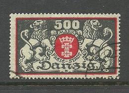 Germany Danzig 1923 Michel 120 O - Dantzig