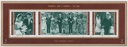 Manama 1971 Mi. 800-801-802 Memorial J. F. Kennedy Family Strip Imperf. Sheet CTO - Manama