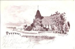 PREROW Darss Fischland Künstlerkarte Signiert Paul Müller Kaempff Kirche Gelaufen 19.8.1898 - Fischland/Darss