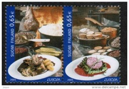 2005 Finland Stamp Pairs, Michel 1749-50 ** Europa Cept. - Finland