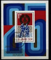 DDR - Block Nr. 41 - 25 Jahre DDR Gestempelt NEUHAUS - [6] République Démocratique