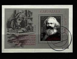DDR - Block Nr. 71 - 100. Todestag Von Karl Marx Gestempelt NEUHAUS - [6] République Démocratique