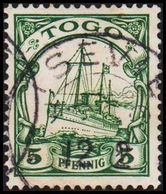 1900. TOGO 5 Pf. Kaiserjacht SMS Hohenzollern. (Michel 8) - JF319404 - Colonie: Togo