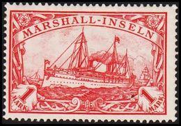 1901. MARSHALL-INSELN 1 MARK Kaiserjacht SMS Hohenzollern. (Michel 22) - JF319466 - Kolonie: Marshall-Inseln