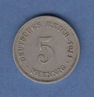 Deutsches Reich Kursmünze 5 Pfennig 1911 G - [ 2] 1871-1918: Deutsches Kaiserreich