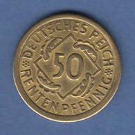 Deutsches Reich Kursmünze 50 Rentenpfennig 1924 A - [ 3] 1918-1933: Weimarrepubliek