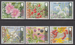 2013  Jersey Flowers Fleurs Complete Set Of 6 MNH @BELOW FACE VALUE - Jersey