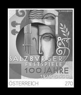 Austria 2020 Mih. 3499 Music. Salzburg Festival (black Proof) MNH ** - Proofs & Reprints