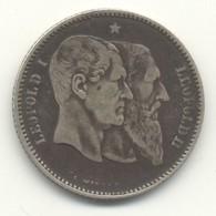 Belgique - 1 Franc 1880  Léopold II - 50e Anniversaire De L'indépendance - 1865-1909: Leopold II