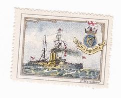 Vignette Militaire Delandre - Angleterre - Marine - H.M.S. Hibernia - Militario
