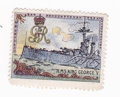 Vignette Militaire Delandre - Angleterre - Marine - H.M.S. King George V - Militario
