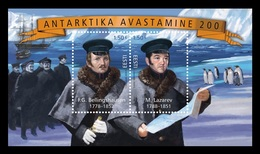 Estonia 2020 Mih. 975/76 (Bl.49) Discovery Of Antarctica. Ships. Penguins (joint Issue Estonia-Russia) MNH ** - Estonie