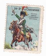 Vignette Militaire Delandre - 14ème Régiment De Chasseurs à Cheval - Vignette Militari