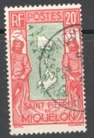 SPM  Carte Des Iles 20fr Yv 159  - Oblitéré - St.Pierre Et Miquelon