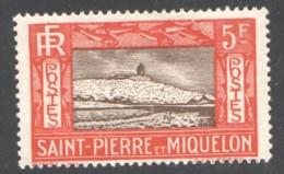 SPM Falaise  5 Fr Yv 157  * - St.Pierre & Miquelon