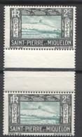 SPM Falaise   2 Cent. Yv 137 Paire Avec Pont - 1 Timbre **, 1 Timbre * - Unused Stamps