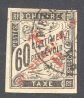 SPM  Timbre Taxe Duval 60 Cnt. Surchargé «TP St-Pierre M-on»  Yv 55  Oblitéré - Used Stamps