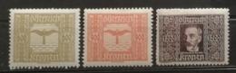 Autriche 1922 / Yvert Poste Aérienne N°6-8 / * - Airmail