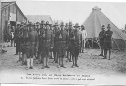 VISITE DANS UN CAMP AMÉRICAIN EN FRANCE Militaria Guerre 1914-1918 - Guerre 1914-18