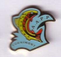 B305 Pin's POISSON PÊCHE AAP Cornimont Vosges Achat Immédiat - Animaux