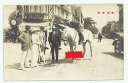 """DEAUVILLE  Carte Photo  GROUPE Cheval """" AU PRINTEMPS"""" - Deauville"""