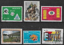 1973-5 Bolivia Expo UPU-independencia Americana-club De Leones-desarrollo-exfivia 75 6v. - Bolivien
