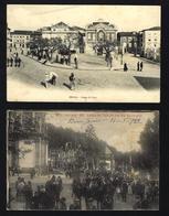 Conjunto De 2 Postais De BRAGA Largo Da Lapa + Largo Do Templo Em Festa. Set Of 2 Old Postcards PORTUGAL - Braga