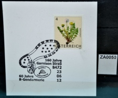 ZA0050 160J Bundes-Gendarmerie Garnison Straß, Polizei, 8472 Straß AT 23.6.2012 - Marcofilie - EMA (Print Machine)
