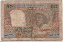 COMOROS P.  2b 50 F 1960 F - Comoros