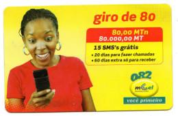 MOZAMBIQUE RECHARGE GIRO 80 000 Mt Année 2009 - Mozambico