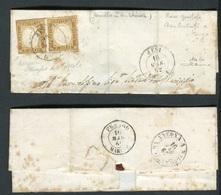 Antichi Stati Sardegna IV Missiva Da Jesi Per Città 16/03/1862  Cardillo - Sardaigne
