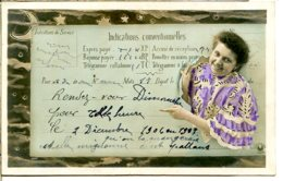 Fantaisie - Correspondance Hâtive - Jeune Femme - Rehausse Dorée - Donne