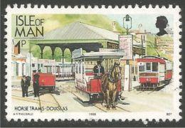 590 Man Horse Tram Douglas Cheval Pferd Tramway Cavale Caballe (MAN-83b) - Tramways