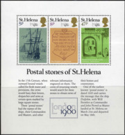 Ste-Helene Bloc N** Yv:4 Mi:5 Postal Stones Of St.Helena - Sainte-Hélène